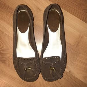 Bakers brown suede/leather loafers size 8.5